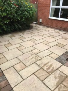 Patio cleaning Perton after pic