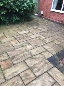 patio cleaning Perton Before pic